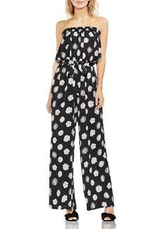 VINCE CAMUTO Floral-Print Strapless Jumpsuit