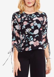 Vince Camuto Floral-Print Tie-Sleeve Top