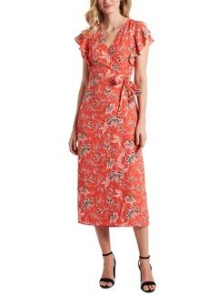 Vince Camuto Floral-Print Wrap Dress