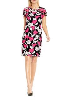 VINCE CAMUTO Floral-Printed Sheath Dress