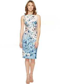 Vince Camuto Floral Printed Sleeveless Bodycon Dress