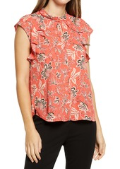 Vince Camuto Floral Ruffle Blouse
