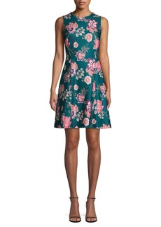 Vince Camuto Floral Sleeveless Fit-&-Flare Dress