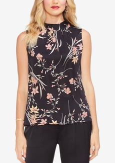 Vince Camuto Floral Soiree Ruched Top