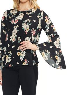Vince Camuto Floral Story Bell Sleeve Blouse (Regular & Petite)