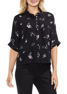 Vince Camuto Floral Three-Quarter Blouse