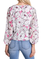 Vince Camuto Floral Tie Front Blouse