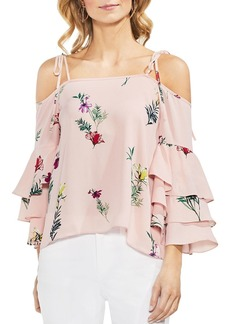 VINCE CAMUTO Floral Tiered Ruffle-Sleeve Top