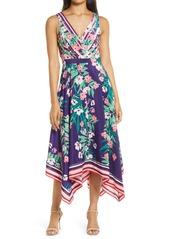 Vince Camuto Floral V-Neck Dress