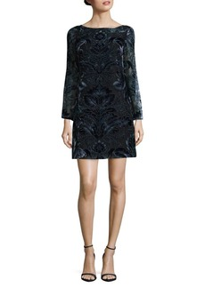 Vince Camuto Floral Velvet Shift Dress