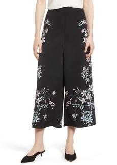 Vince Camuto Floral Wide Leg Crop Pants