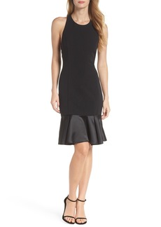 Vince Camuto Flounce Hem Sheath Dress