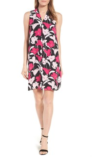 Vince Camuto Flower Wave Inverted Pleat Shift Dress