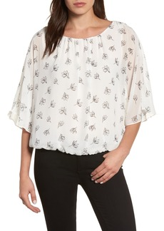 Vince Camuto Fluent Flowers Batwing Blouse