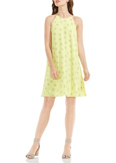 Vince Camuto Fluent Flowers Print Sleeveless A-Line Dress