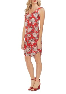 VINCE CAMUTO Flutter-Shoulder Botanical Dress