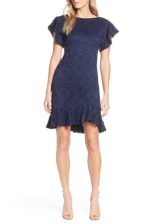 Vince Camuto Flutter Sleeve Lace Dress