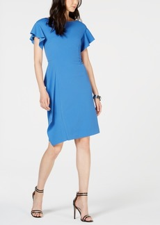 Vince Camuto Flutter-Sleeve Sheath Dress