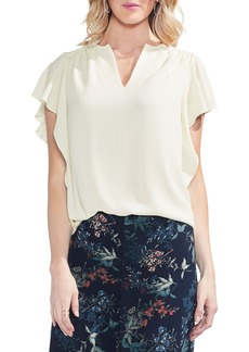 Vince Camuto Flutter Sleeve Textured Top (Regular & Petite)