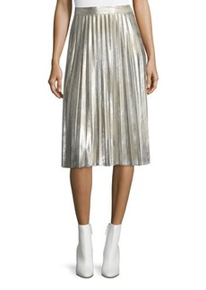 Vince Camuto Foiled Pleated Skirt