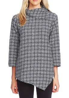 Vince Camuto Foldover-Neck Asymmetrical Top
