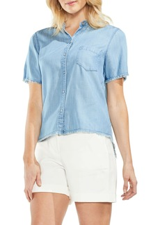 Vince Camuto Frayed Chambray Shirt