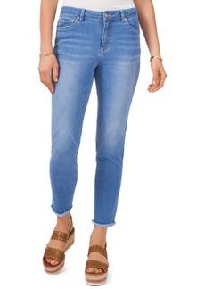Vince Camuto Frayed-Hem Jeans