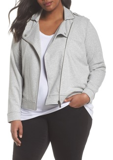 Vince Camuto French Terry Moto Jacket (Plus Size)