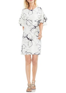 Vince Camuto Fresco Petals Ruffle Sleeve Shift Dress