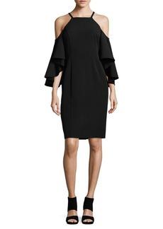 Vince Camuto Frill Cold-Shoulder Dress