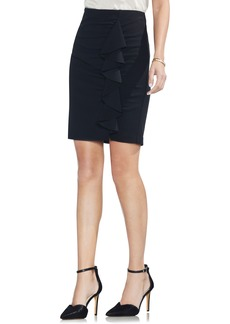 Vince Camuto Front Ruffle Pencil Skirt