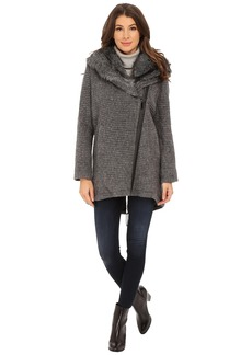Vince Camuto Fur Hood Sweater Coat J8241