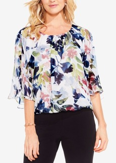 Vince Camuto Garden Expressions Bat-Wing Blouse