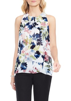 Vince Camuto Garden Expressions Sleeveless Crepe Blouse