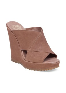 Vince Camuto Garton Leather Wedge Sandals
