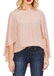 Vince Camuto Gathered Detail Cape Blouse
