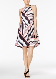 Vince Camuto Geo-Print Fit & Flare Dress