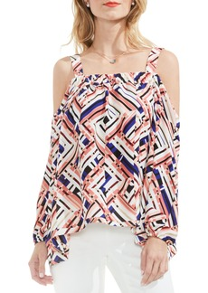 Vince Camuto Geo Print Off the Shoulder Blouse