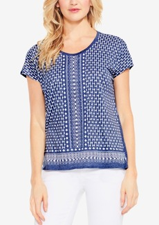 Two By Vince Camuto Geo-Print Top