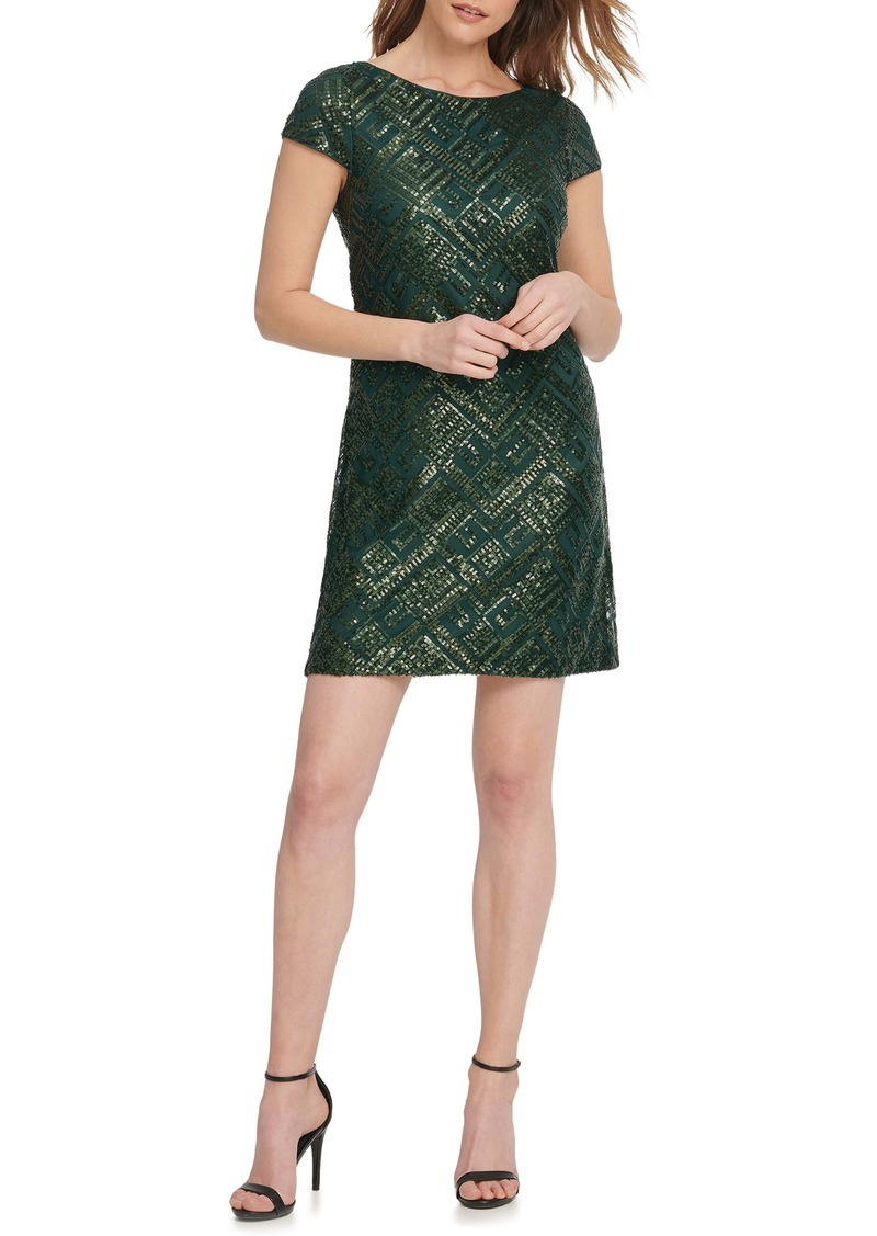 Vince Camuto Geo Sequin Cocktail Minidress