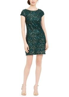 Vince Camuto Geo-Sequinned Shift Dress