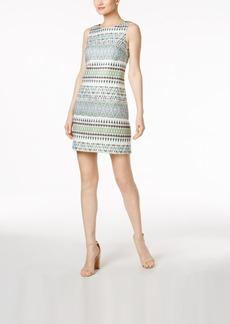 Vince Camuto Geometric Jacquard Dress