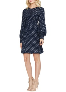Vince Camuto Geometric Print A-Line Dress