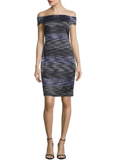 Vince Camuto Geometric Sheath Dress