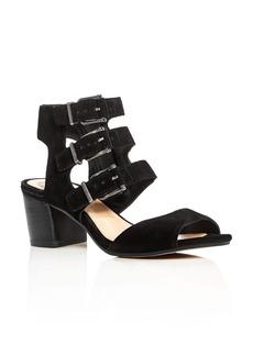 VINCE CAMUTO Geriann Buckled Block Heel Sandals