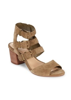 Vince Camuto Geriann Leather Midheel Sandals