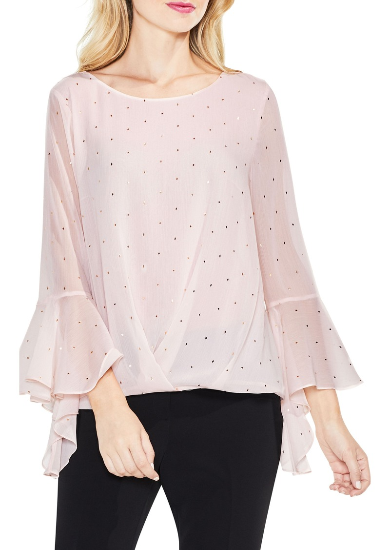 Vince Camuto Gilded Diamonds Bell Sleeve Top