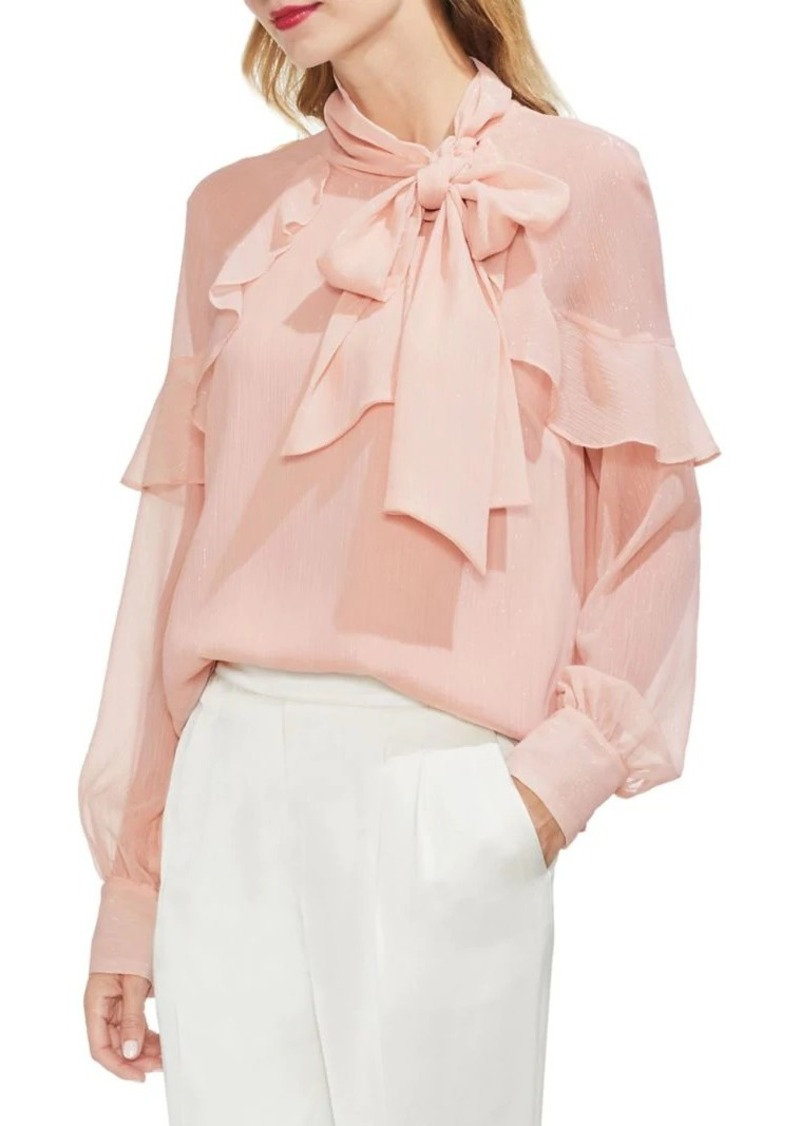 e5f431963c328 Vince Camuto Vince Camuto Gilded Rose Tie-Neck Blouse
