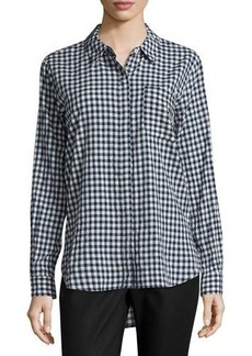 Vince Camuto Gingham Button-Down Blouse