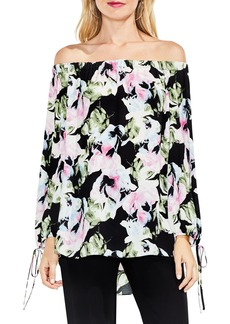 Vince Camuto Glacier Floral Off the Shoulder Top